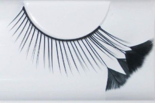 Eye Lash set Feather Black & black Thin Cosmetics Makeup